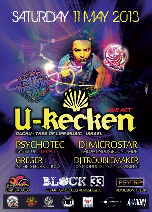 Psy Vibes & Psy Trip Presents : U-Recken Live Act