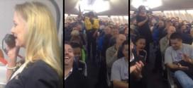 Αεροσυνοδός δίνει οδηγίες και οι επιβάτες ξεσπούν σε γέλια! (video)