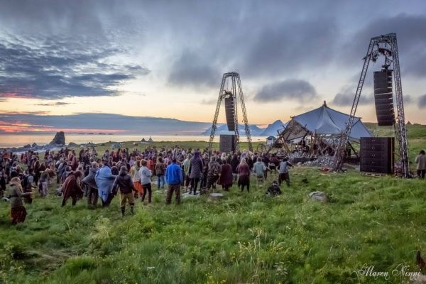 3 days without darkness at Midnight Sun Festival 2014, Norway. Photo by Karen Ninni.