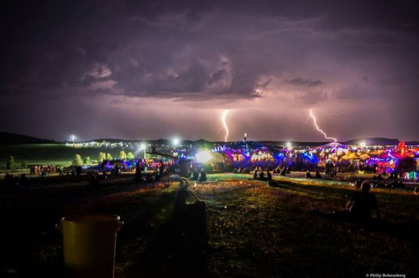 Lightning storm above Antaris Project Festival, Germany. Photo by Philip Rebensberg.